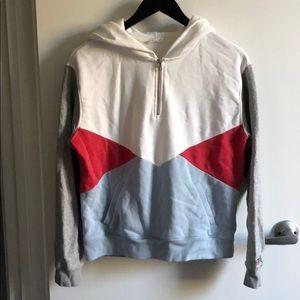 Levi's oversized 1/4 zip hoodie